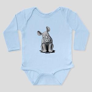 Cute Rhino Long Sleeve Infant Bodysuit