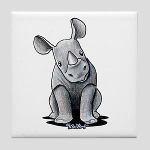 Cute Rhino Tile Coaster
