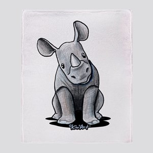 Cute Rhino Throw Blanket