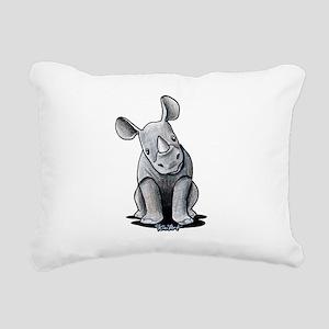 Cute Rhino Rectangular Canvas Pillow