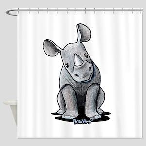 Cute Rhino Shower Curtain