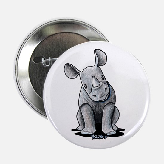 "Cute Rhino 2.25"" Button"