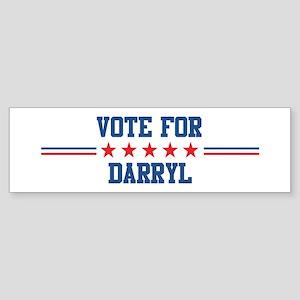 Vote for DARRYL Bumper Sticker