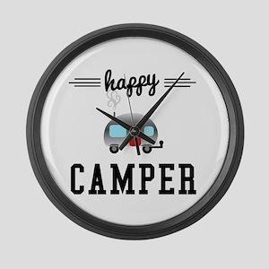 Happy Camper Large Wall Clock