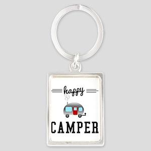 Happy Camper Portrait Keychain