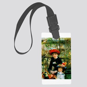 Two Sisters (On the Terrace) Large Luggage Tag