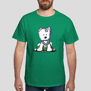 Hula Girl Westie Dark T-Shirt