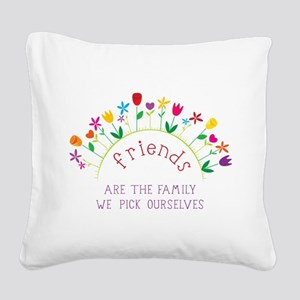 Friends Square Canvas Pillow