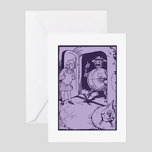 Oz Tik Tok, Billina, and Dorothy Greeting Card