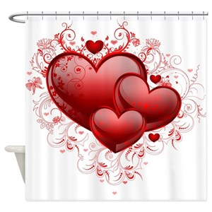 Heart Shower Curtains