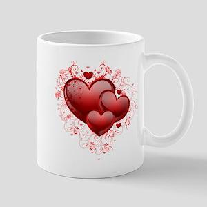 Floral Hearts Mug