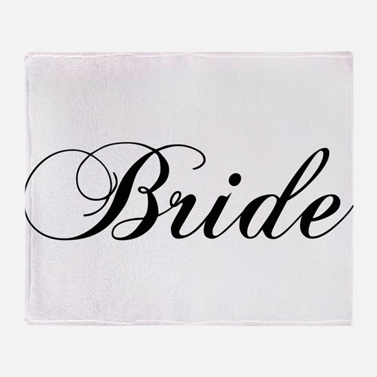 Bride1.png Throw Blanket