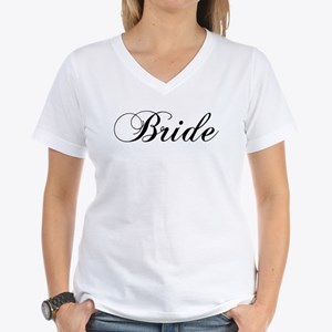 Bride1.png Women's V-Neck T-Shirt