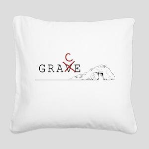 Grace > Grave Square Canvas Pillow