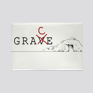 Grace > Grave Rectangle Magnet