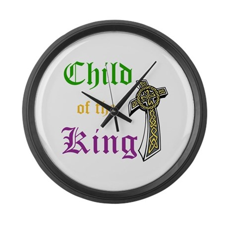 Child Of The King Large Wall Clock