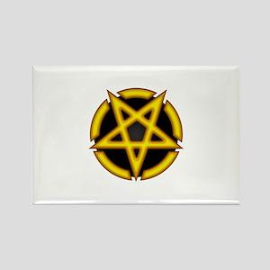Devils Pentagram Rectangle Magnet