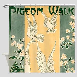 Pigeon Walk Shower Curtain