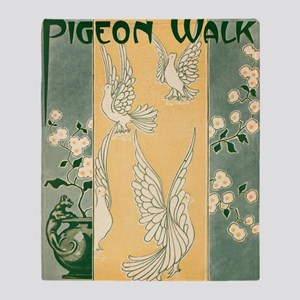 Pigeon Walk Throw Blanket