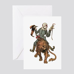 Oz Scarecrow and Lion Greeting Card