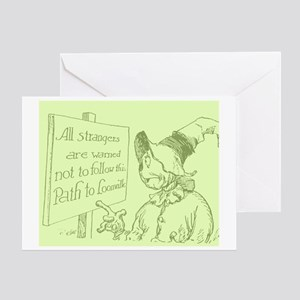 Oz Scarecrow Path to Loonville Greeting Card