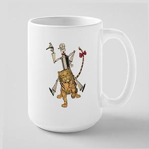 Oz Tin Woodman and Hungry Tiger Large Mug