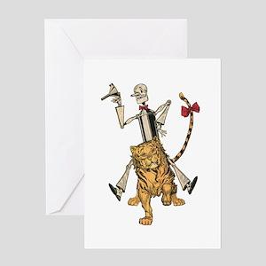 Oz Tin Woodman and Hungry Tiger Greeting Card