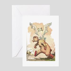Oz Tin Owl and Stuffed Bear Greeting Card