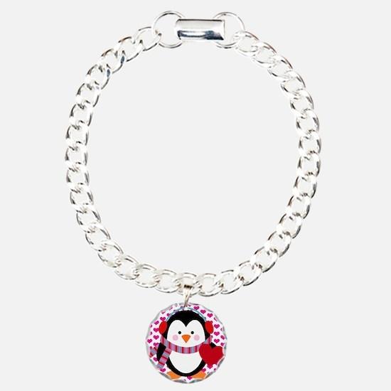 Valentines Day Penguin Bracelet