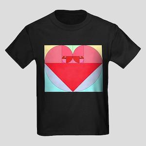 Golden Ratio Heart Kids Dark T-Shirt