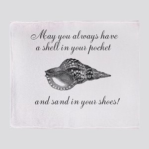 Shell in your pocket Throw Blanket