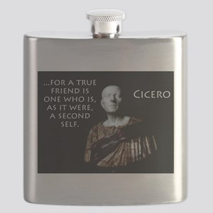 For A True Friend - Cicero Flask