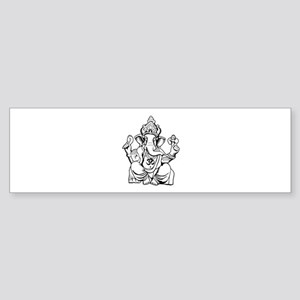 Lord Ganesha Lines Sticker (Bumper)