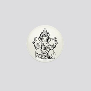 Lord Ganesha Lines Mini Button