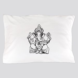 Lord Ganesha Lines Pillow Case