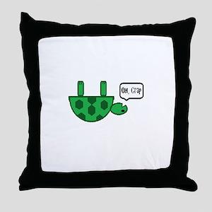 Upside down turtle Throw Pillow