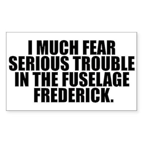 Fuselage Frederick Rectangle Sticker