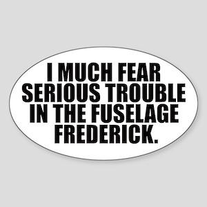 Fuselage Frederick Oval Sticker