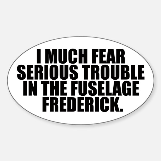 Fuselage Frederick Oval Decal