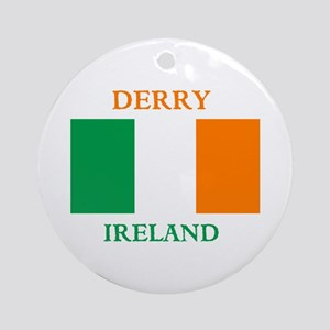 Derry Ireland Ornament (Round)