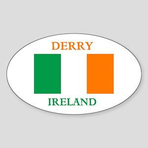 Derry Ireland Sticker (Oval)