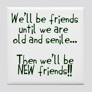 Well be friends png Tile Coaster