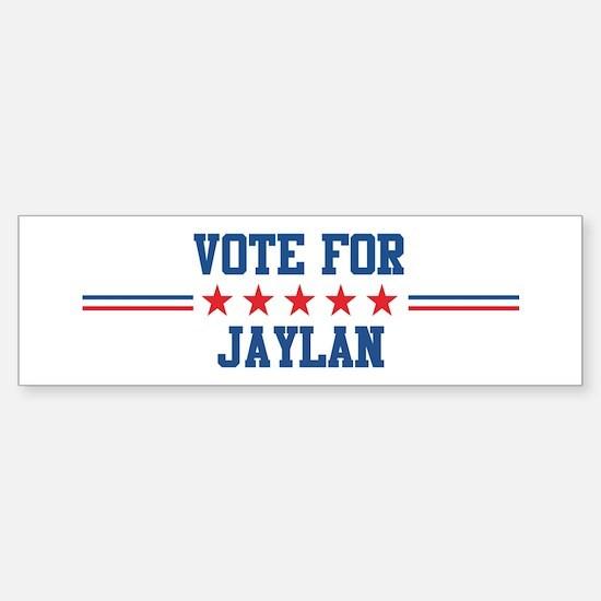 Vote for JAYLAN Bumper Car Car Sticker