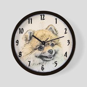 Pomeranian (Orange) Wall Clock