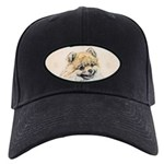 Pomeranian (Orange) Black Cap with Patch