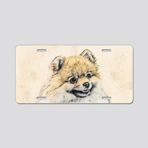 Pomeranian (Orange) Aluminum License Plate