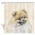 Pomeranian (Orange) Shower Curtain