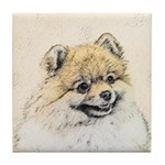 Pomeranian (Orange) Tile Coaster