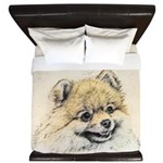 Pomeranian (Orange) King Duvet