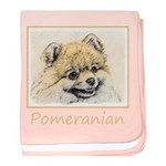 Pomeranian (Orange) baby blanket